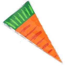 Cellophane Carrot Shaped Goody Bags, Chris.W 100Pcs Easter C