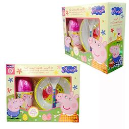 Peppa Pig 3 Piece Mealtime Gift Set with Easter Egg
