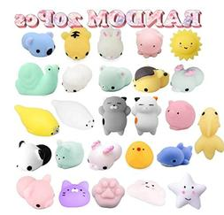 Birthday Party Favors Pack for Kids - 20 Pcs Mochi Squishies