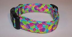 Wet Nose Designs Bright Jelly Beans Dog Collar Easter Candy