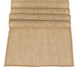 Ling's moment 12 x 108 Inches Burlap Wedding Table Runner Ju