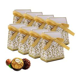 Candy Boxes, Gift Boxes with Gift Ribbons Candy Bag Cake Box