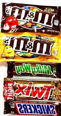 Mars Chocolate Candy Full-Size Bars Twix Snickers Milky Way