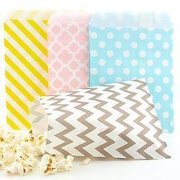 Easter Candy Bags  - Pastel Yellow, Pink, Blue & Silver East