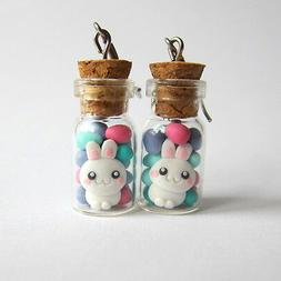 Easter Gifts Chocolate Eggs Bunny Bow Candy Cookie Jar Blue