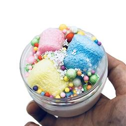 Gbell Fluffy Cloud Slime with Foam Balls,Candy Putty Scented