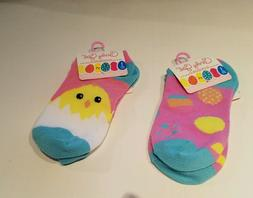 Girls Candy Girl Brand 2 Pair Pastel  Easter Fashion Ankle