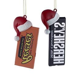 HERSHEY'S™ CANDY BAR WITH SANTA HAT ORNAMENT - 2 ASSORTED: