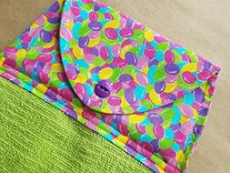 Jellybean Hanging Kitchen Towel, Spring Button Top Dish Towe