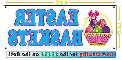 EASTER BASKETS Full Color Banner Sign for candy gifts chocol