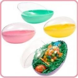 """ONE 6"""" Plastic Panoramic Sugar Easter Egg Mold, Assorted Col"""